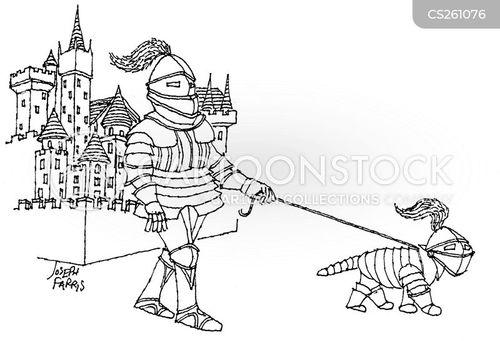 medieval castles cartoon