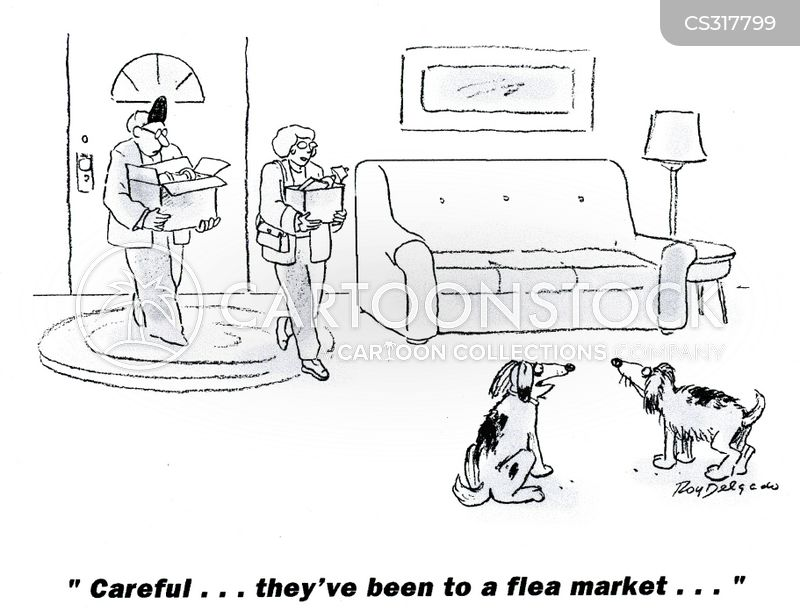 junk stores cartoon
