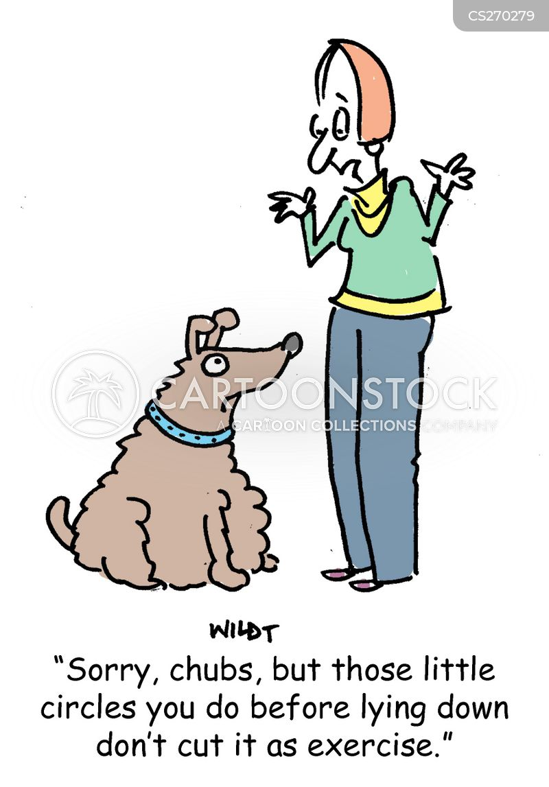 fat dog cartoon