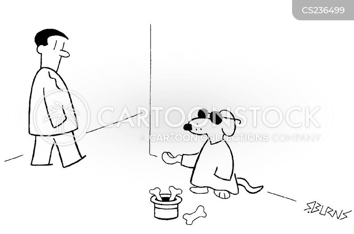 aggressive beggar cartoon