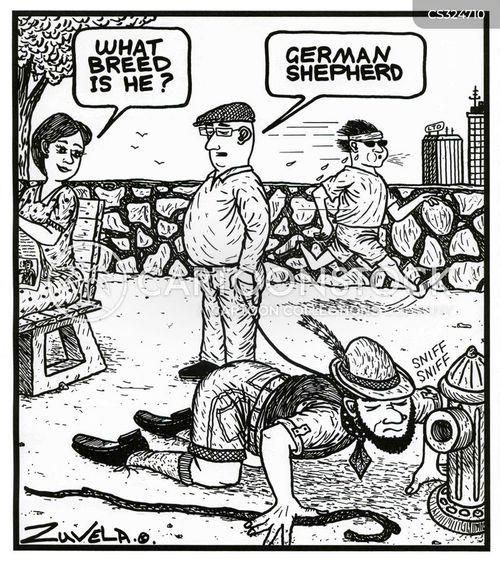 german shepherds cartoon