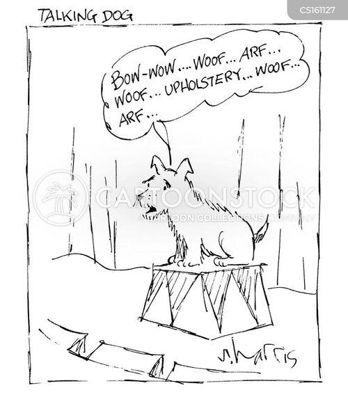 speaking dog cartoon