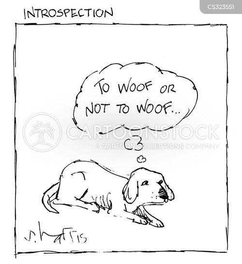 woofing cartoon
