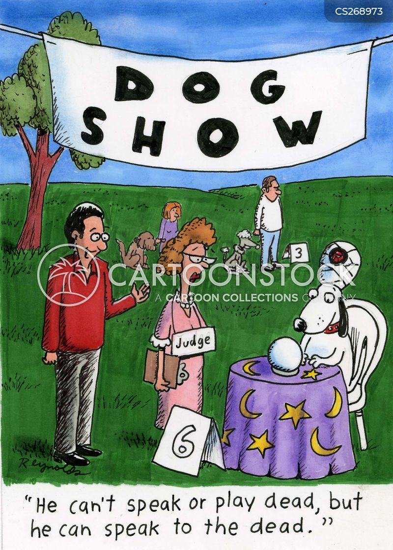 clever dog cartoon