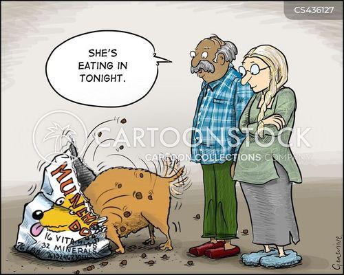 dog biscuits cartoon