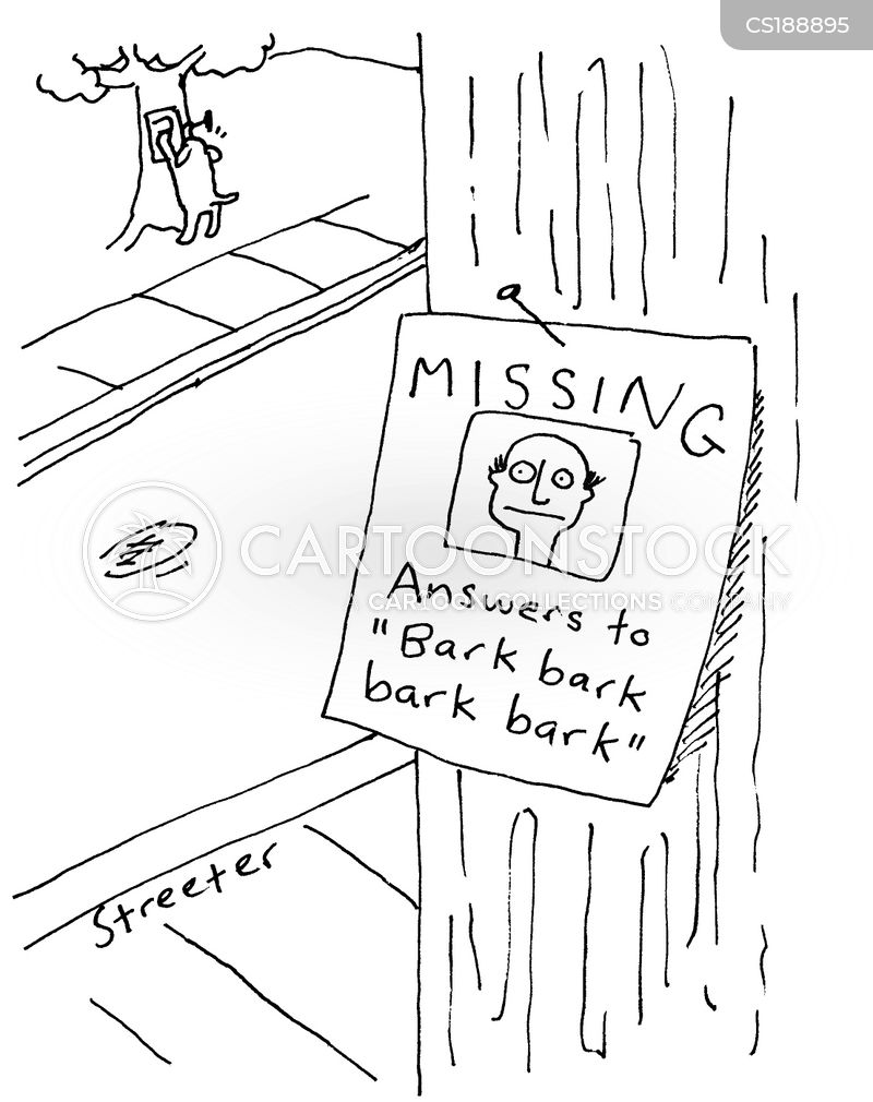 lost dog cartoon