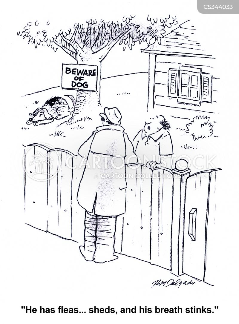 dog breath cartoon