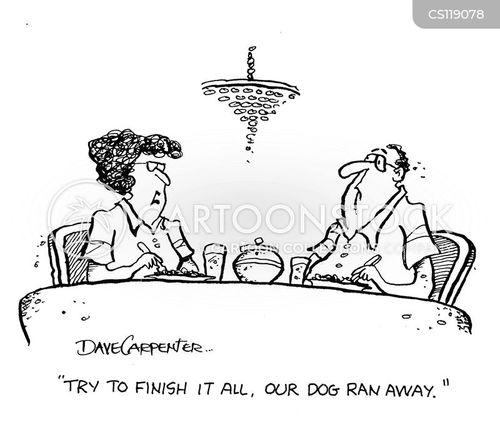 ran away cartoon