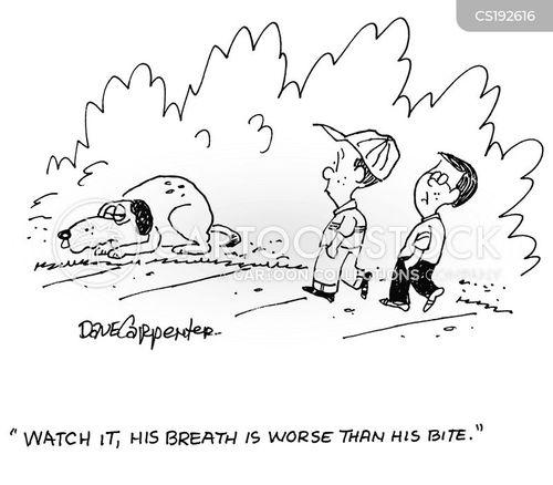 bad breath cartoon