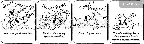 growling cartoon