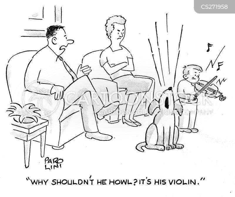 child musician cartoon