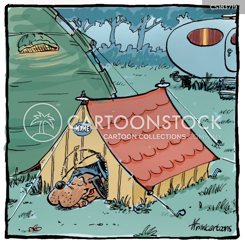 campsite cartoon