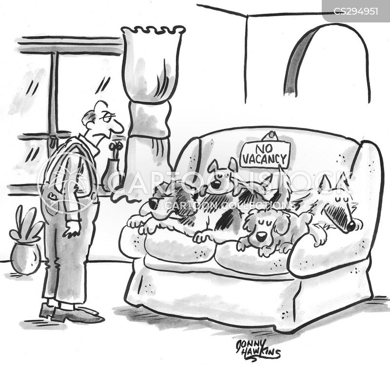 Dog On Couch Cartoons and Comics - funny pictures from CartoonStock