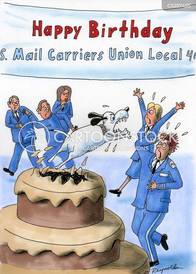 mail carriers cartoon