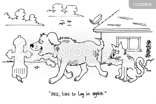 log ins cartoon
