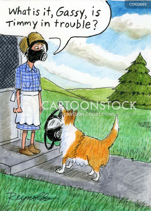 smelly dog cartoon
