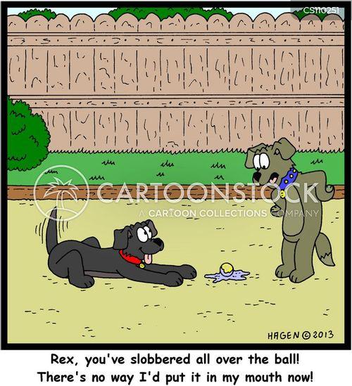 slobber cartoon