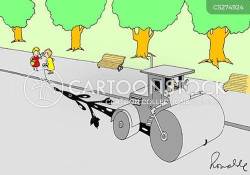 steam rollers cartoon
