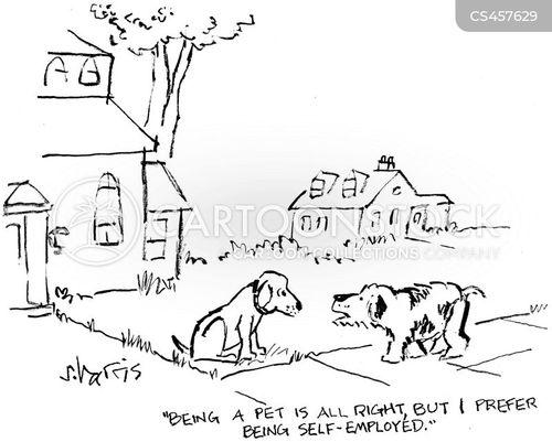 stray dog cartoon