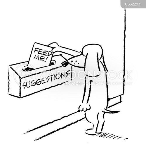 suggestions box cartoon