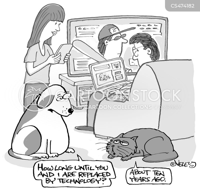 robotic dogs cartoon