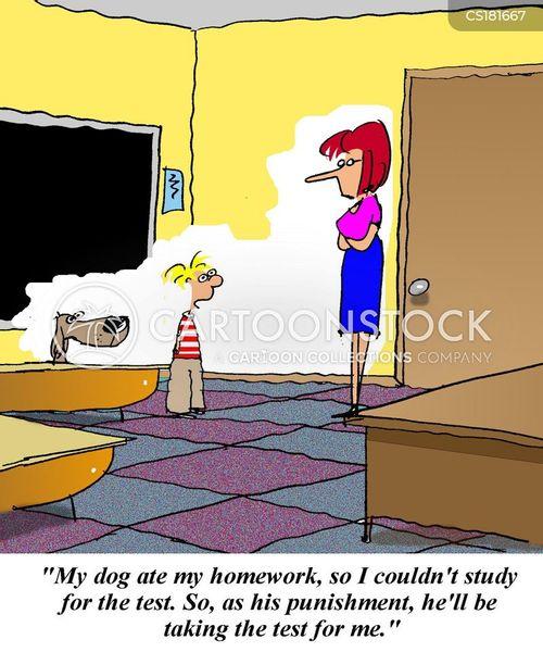 eaten homework cartoon
