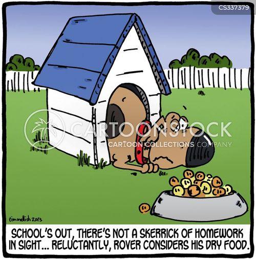 dry food cartoon