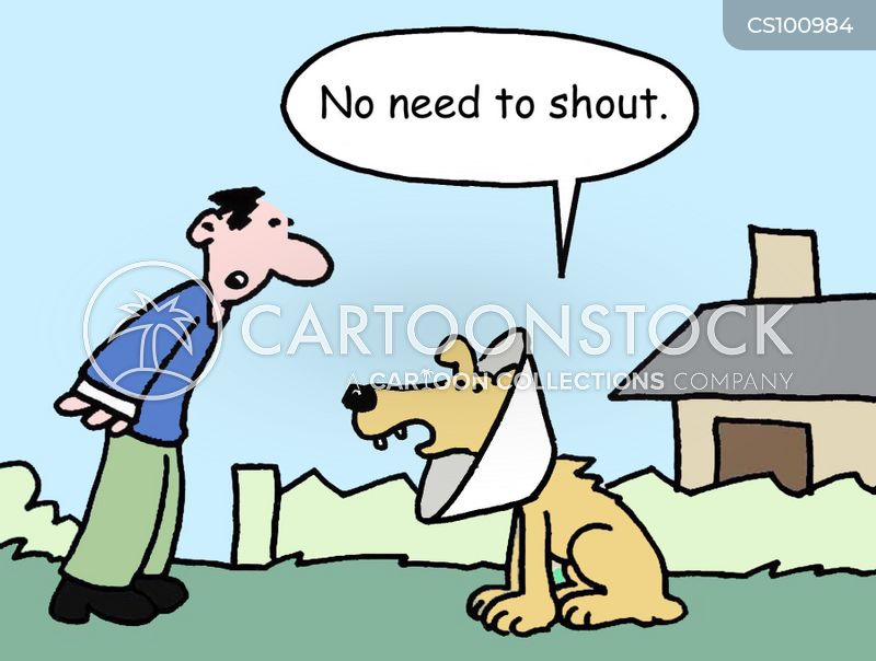 cone collar cartoon