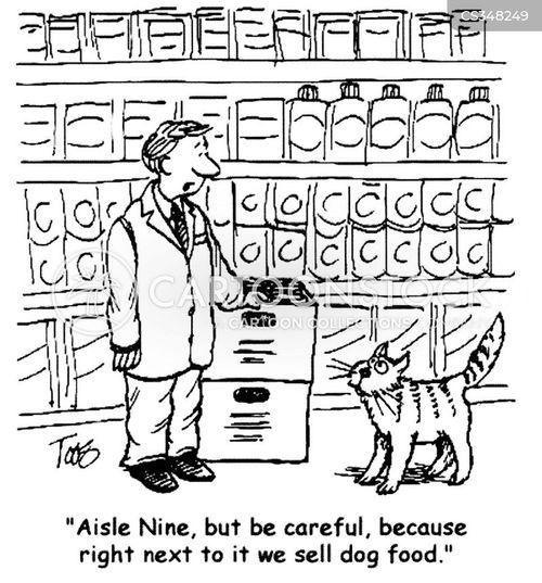 grocery stories cartoon