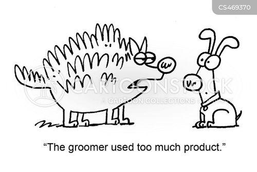 dog shampoos cartoon