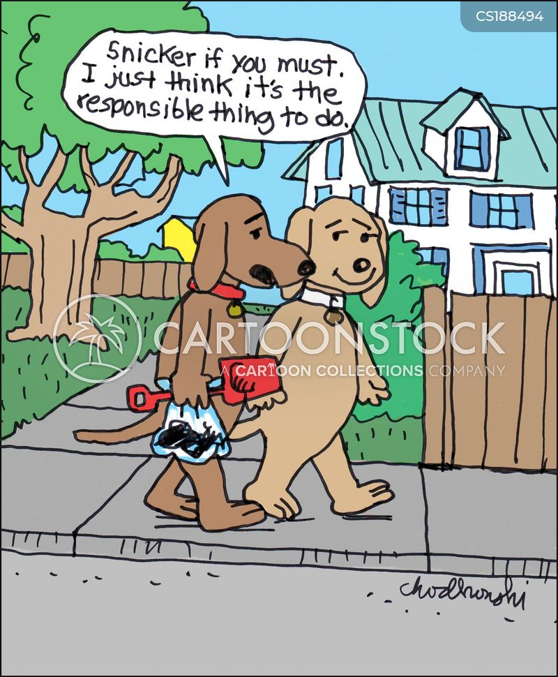 dog poop cartoon