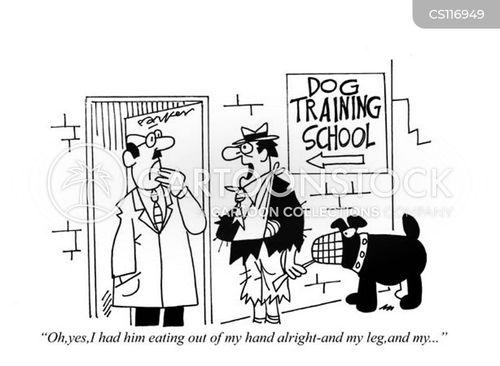 dog training school cartoon