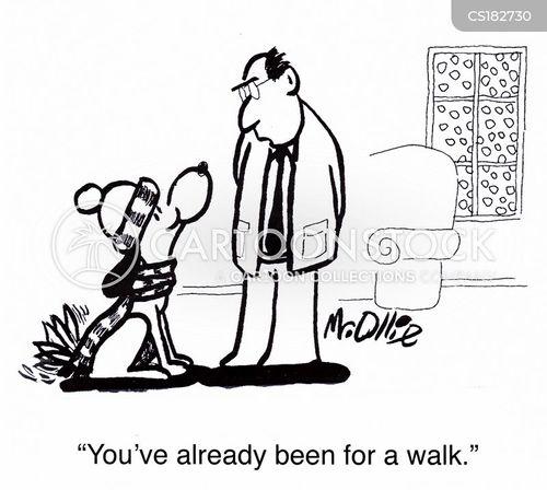 canine behaviour cartoon