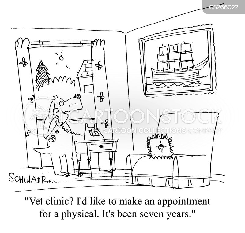 vet clinic cartoon