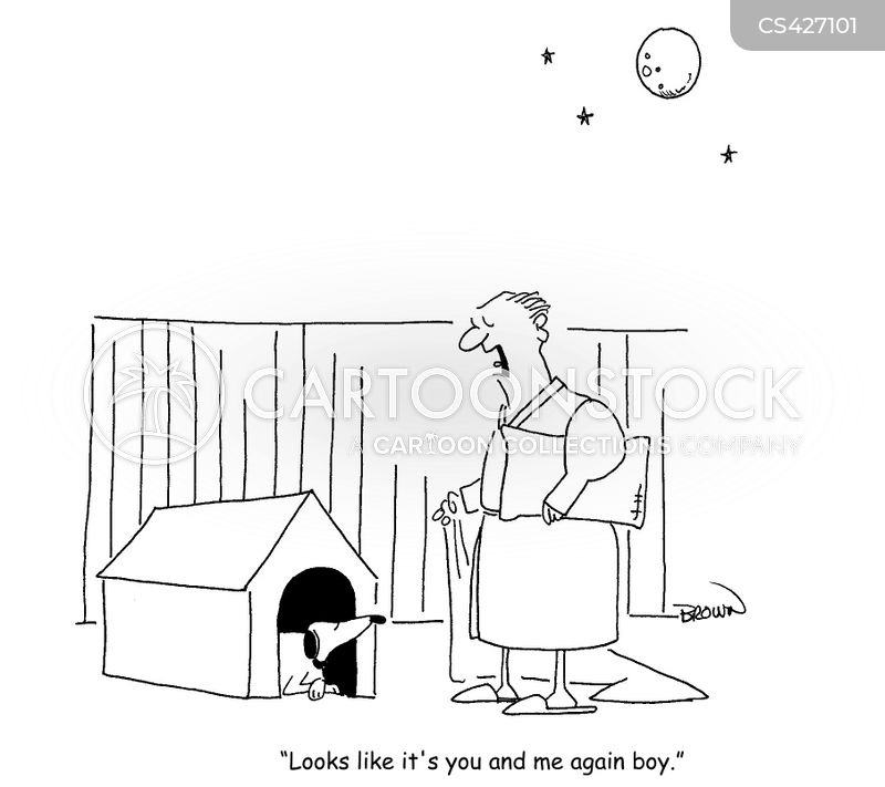 in the doghouse cartoon