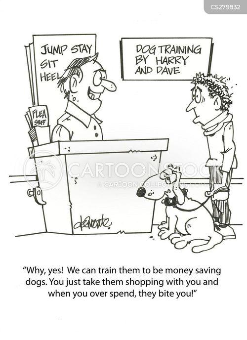 over spending cartoon