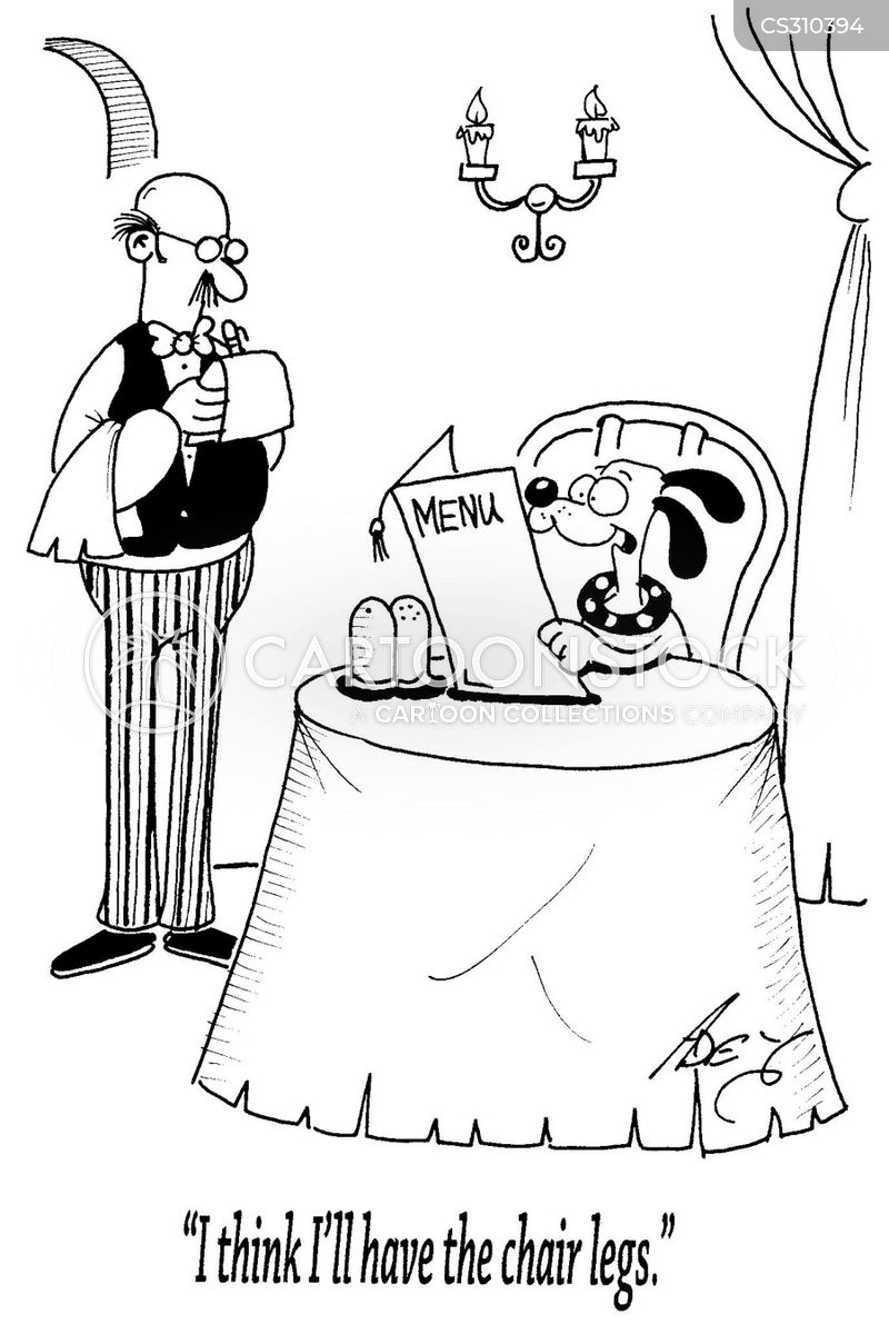dine outs cartoon
