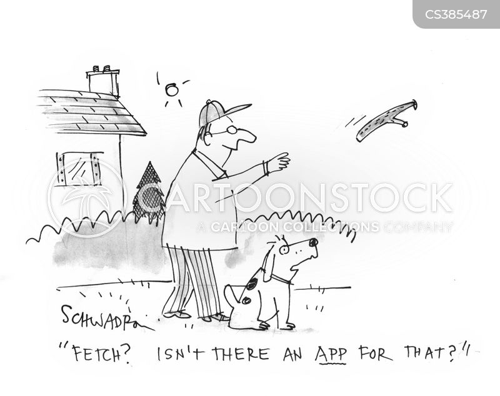 computer apps cartoon