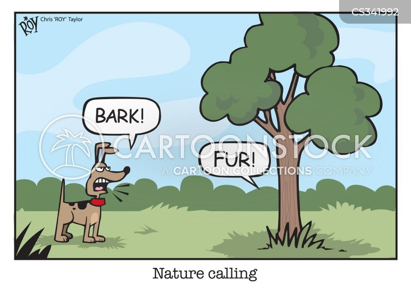 call of nature cartoon