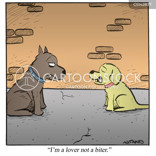 dog bite cartoon
