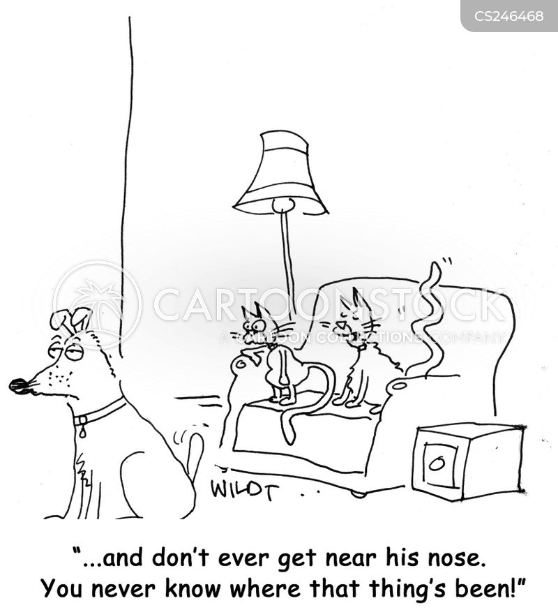 sniffed cartoon