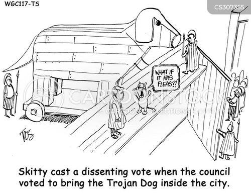 battle of troy cartoon