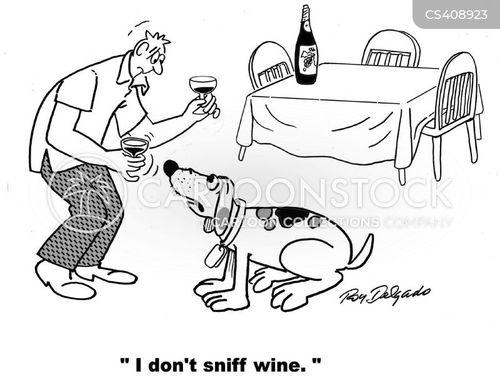 wine parties cartoon
