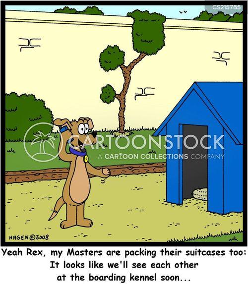 boarding kennel cartoon