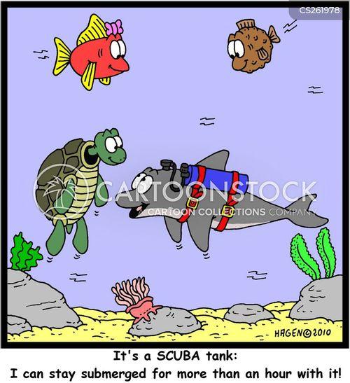 air tank cartoon
