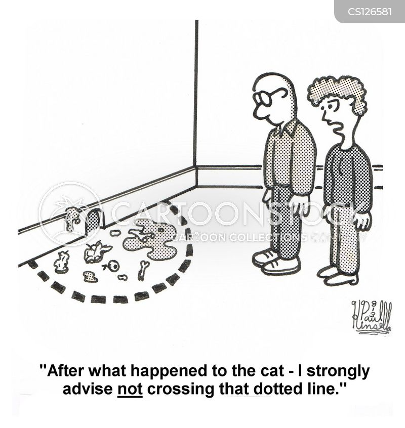 dotted lines cartoon