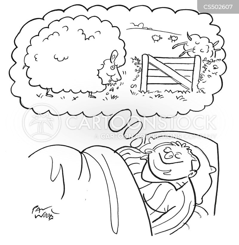 sleeping techniques cartoon