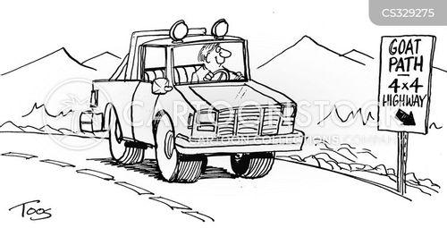 four wheel drive cartoon