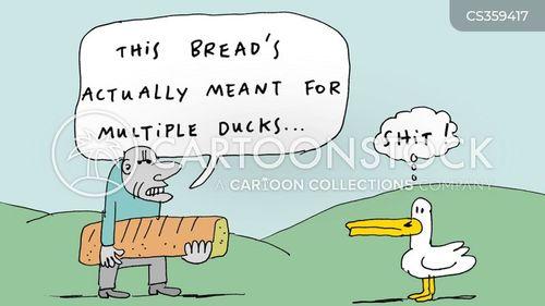duck pond cartoon