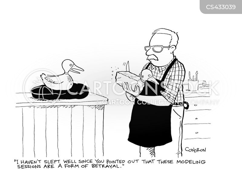 hunting decoys cartoon